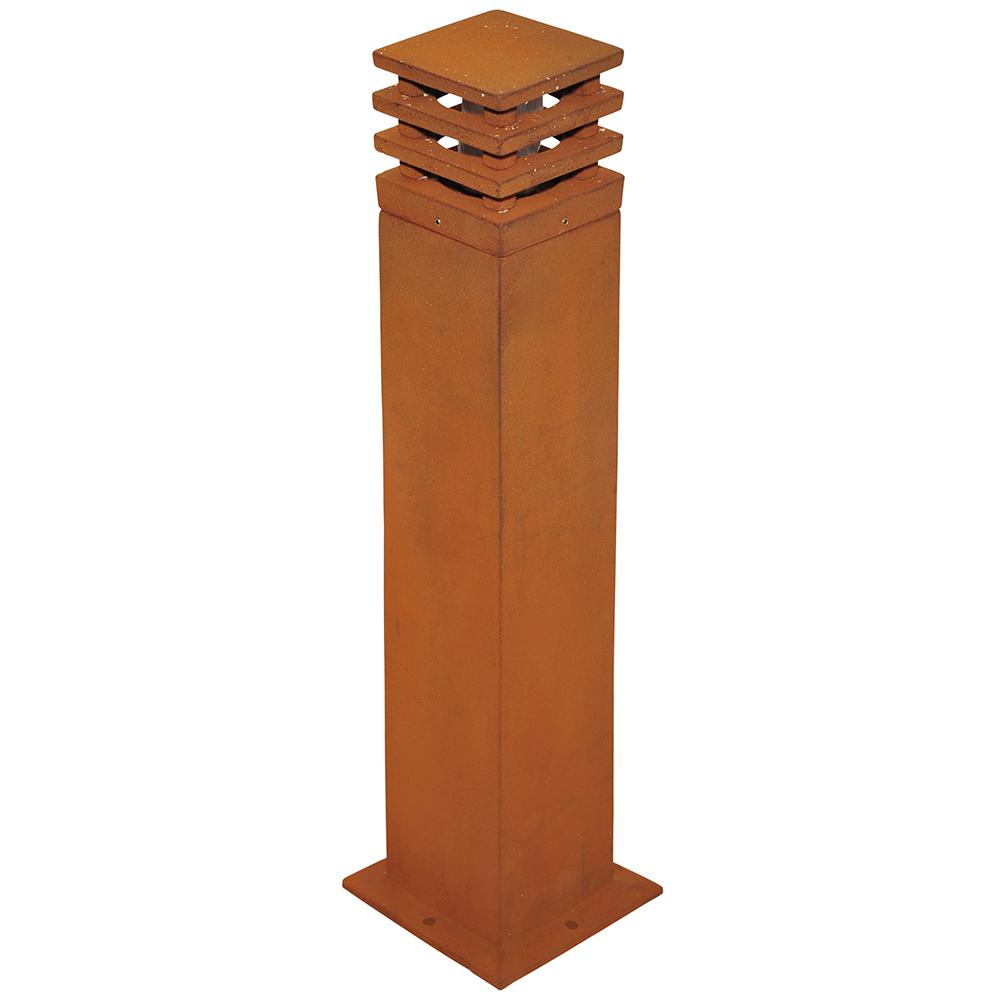 Rusty SQ Bollard 70cm
